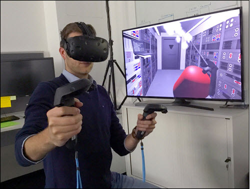 Image of man in VR training