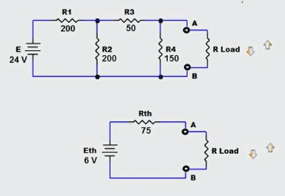 Resistance load series circuit and a parallel circuit digram